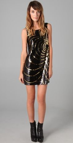 sequin shift dress by rachel zoe