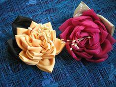 Making ribbon flower tutorial flor de, de fuxico, handcraft flower, flore de, flower tutorial, diy flower, handmad flower, ribbon flower, fabric flower