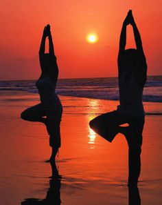 Girlfriends Getaway to the Beach ... Time for Yoga!