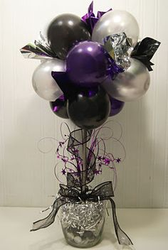 idea, balloon centerpieces, spring colors, new years eve, topiaries, balloons, balloon topiari, baby showers, parti
