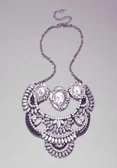 Stone Layered Necklace from bebe on shop.CatalogSpree.com, your personal digital mall.