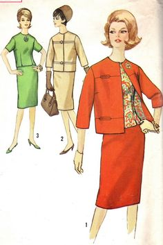 Vintage Sewing Pattern 1960s Simplicity 5144 Suit by paneenjerez, $14.00