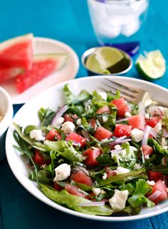 watermelon-feta-salad. This is very good. Loved it.