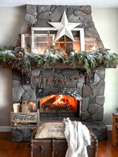 #Vintage Flair #christmasmantels #christmasdecor