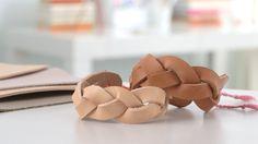 Leather Mystery-Braid Cuffs