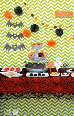 A garland as wicked as the party you're throwing. The funnest thing about Halloween is the decor. Are we right or are we right? And with a circle garland you get something cute, something fun, and you get it all without having to spend all your time making it. So let's decorate to the nines. -#halloweengarlands pickyourplum.com