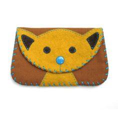 yellow cat wallet