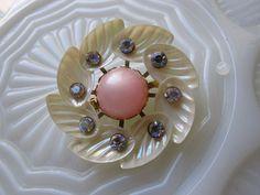 Vintage shell brooch
