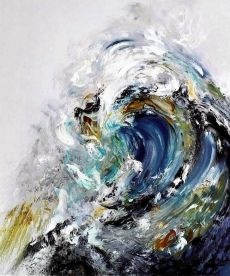 Oil on canvas by/© Maggi Hambling.    http://illusion.scene360.com/news-community/big-wave/