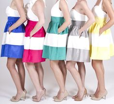 Cute way to get a wide range of colors in your Bridal party