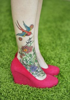 foot tattoo, love the tat, love the shoes!