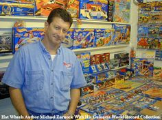 "Mike Zarnock with his Two Time Guinness World Record Hot Wheels Collection at ""Mike Zarnock's World Famous Hot Wheels Museum"""