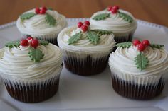 Cup cakes de Natal | Flickr - Photo Sharing!