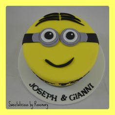Minion Cake by Sweetalicious by Rosemary, Munno Para West, South Australia. You'll find this Cake Appreciation Society Member in our Directory at www.cakeappreciationsociety.com