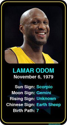 Celeb #Scorpio birthdays: Lamar Odom's astrology info! Sign up here to see more: https://www.astroconnects.com/galleries/celeb-birthday-gallery/scorpio?start=60  #astrology #horoscope #zodiac #birthchart #natalchart #lamarodom