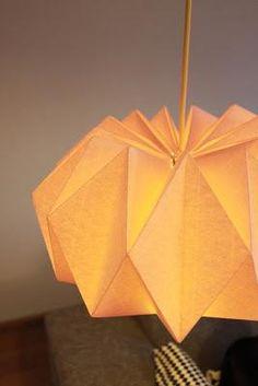 DIY Origami : DIY : une lampe origami!