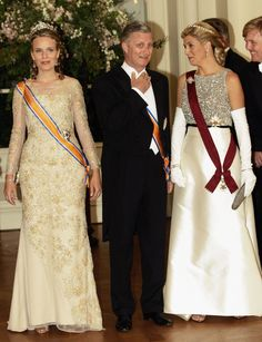 Crown Princess Mathilde, Crown Philippe of Belgium with Crown Princess Maxima of the Netherlands