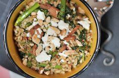 Farro with Roasted Broccoli Rabe & Harissa