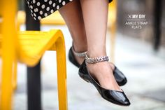 DIY Ankle Strap Flats