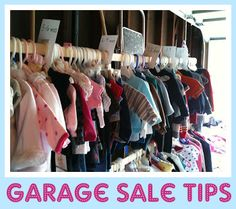 All Things With Purpose: Garage Sale {Organizing} Tips!