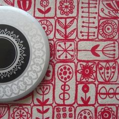Scandi hand screen-printed fabric by Summerville on Etsy, £5.50