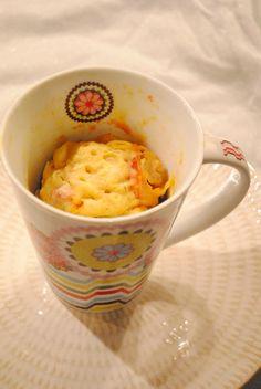 Mug cake salé : jambon olives et comté