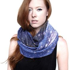 How to wear stars around your head :)  Magellanic Cloud Circle Scarf now featured on Fab.