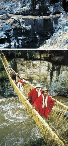 Would you go on the Inca Rope Bridge in Peru? Great pin (and gives me a small heart attack) by @Annette Howard. #PinUpLive