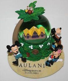 New Disney Parks Aulani Hawaii Snow Globe Mickey Minnie Donald Goofy Stitch Chip