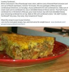 Cowboy Cornbread -- use Pamela's Gf cornbread mix