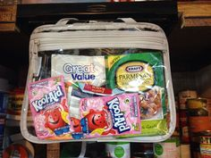Thirty-One Pocket-A-Tote in Clear PVC - use it in your pantry to keep your smaller items organized but still in view.  Would be great in a camper too!