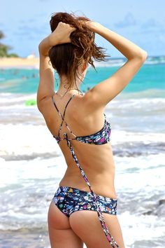 Wailea Scrunch Butt Hipster Bikini Bottoms  by PeaceOfParadise, $30.00