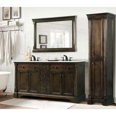 "Legion Furniture WLF6036-60 60"" Bathroom Vanity With A Countertop. Solid Poplar, MDF/Veneer, Glass bathroom design, bathroom vanities, glass"