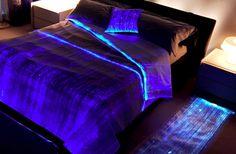 Luminous Fiber Optics Bed Cover.