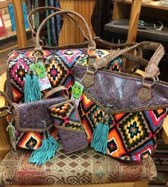 Luggage set, tote, cross body and wallet - all matching and fabulous prices! Call for yours today! 620.796.2355 cross bodi, purs, fashion ideas, stuff, cloth, gypsy cowgirl style, accessori, bag, thing