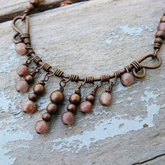 Antiqued Copper with Dusky Purple Aventurine by BearRunOriginals, $29.00