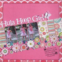 scrapbook layouts, scrapbook girl, flower boarder, paper squar