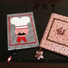 Cadernos decorados com tecido