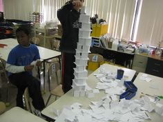 Wilkinson's Wonderful World of Art: 4th grade - Tallest Tower Contest
