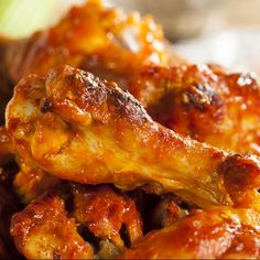 This baked buffalo chicken wings recipe is super easy to do and finger linkin good.. Baked Buffalo Chicken Wings Recipe from Grandmothers Kitchen.