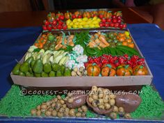 Coolest Fruit and Vegetable Cake for the Local Craft and Produce Fair...