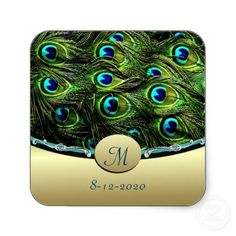 Peacock Wedding Decorations on Peacock Theme Wedding Envelope Seals Sticker From Zazzle Com