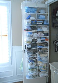 I've seen them used for many things but this is really a great idea for my grandson's room, where the closet is so tiny!  thanks.