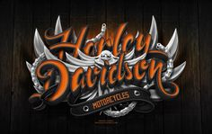 Harley Davidson Poster by Marcelo Schultz, via Behance