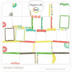 Project Life - Amber - Journaling Cards; digital