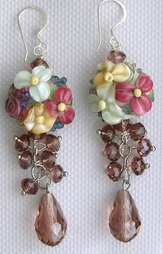 Lampwork Earrings Handmade Glass Beads by UglyDucklingBeads, $45.00