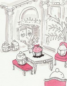 Eloise inspired Cupcake