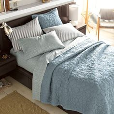 Blue Bedding on Pinterest