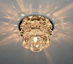 {crystal LED ceiling light}