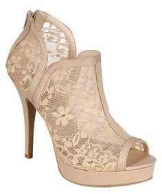 Ivory lace heels